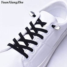 1Pair New No Tie Shoe laces Elastic Shoelaces Kids Adult Running Sneakers Shoelace Lazy Laces 24 Colors