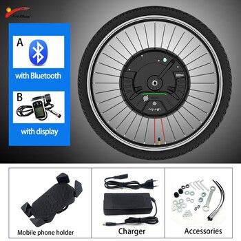 IMortor-Kit de conversión de Bicicleta eléctrica, Motor delantero de Bicicleta de montaña,...