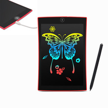 Drawing toys 9.5 inch LCD write board Ultra-thin Tablets Portable E-writer Toy Kids Child Educational rechargeable rainbow color