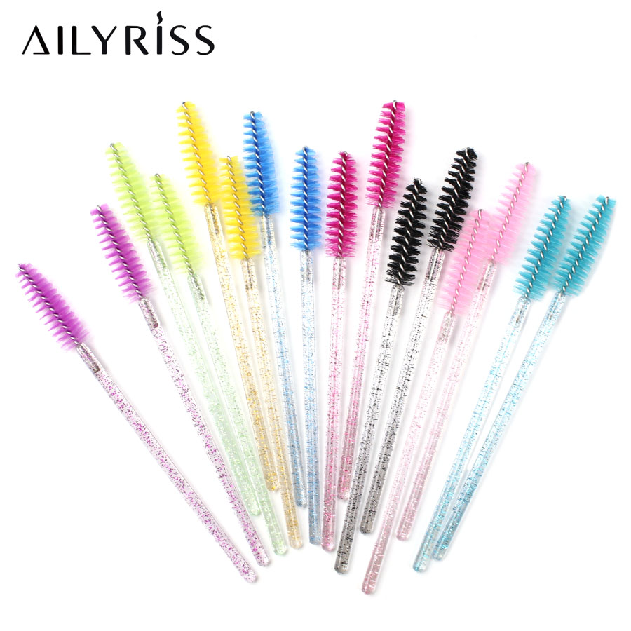 Crystal Eyelash Brush For Eyelash Extension Grafting Disposable Personal Brush Mini Mascara Wands Professional Makeup Supplies