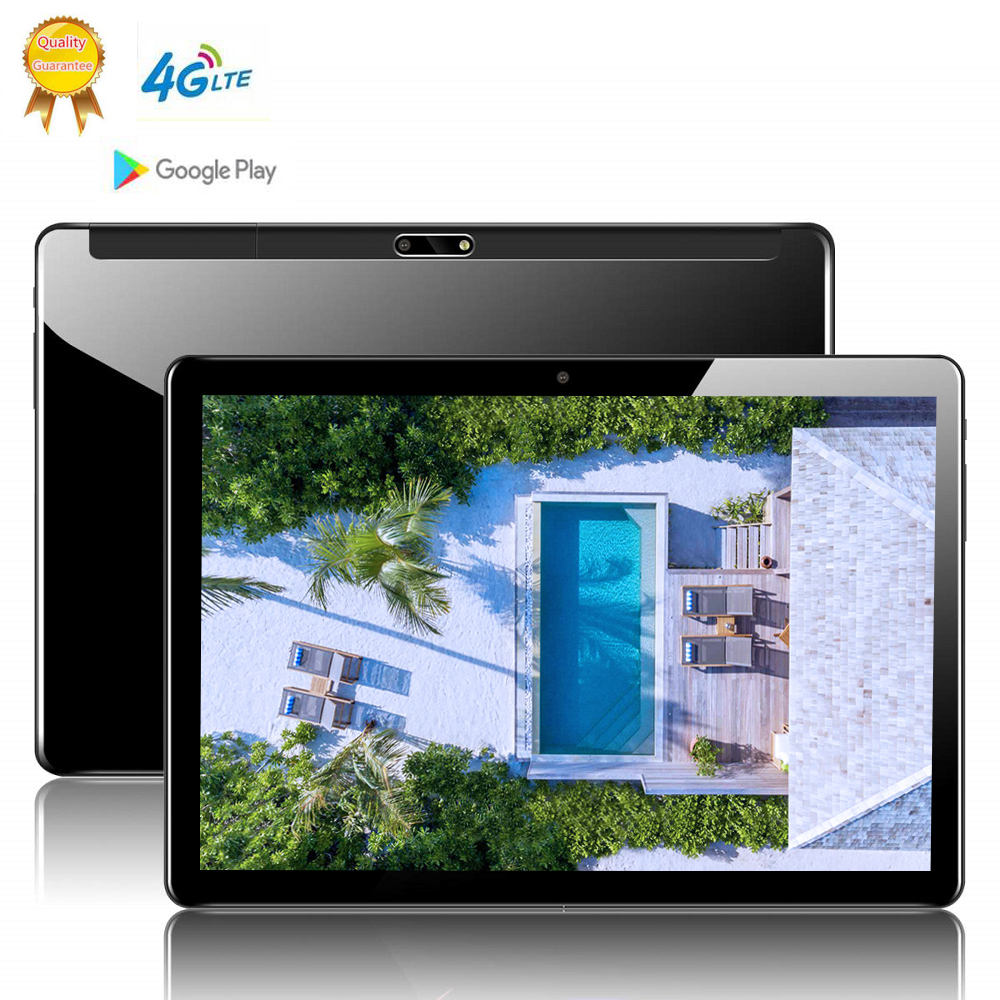 CARBAYTA Global Version 10 Inch 2.5D Tablet PC 10 Deca Core 8GB RAM 128GB ROM Android 9.0 WiFi 3G 4G LTE IPS HD Tablet Holder