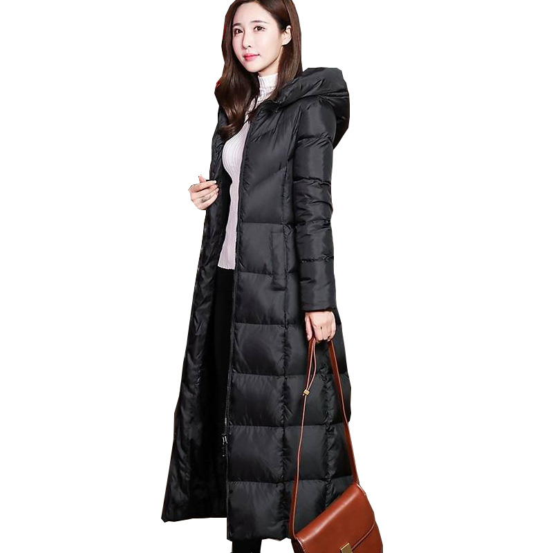 Winter Coat Women Solid Long Parkas Thick  Hooded Female Coat High Quality Warm Outwear Womens Parka Manteau Femme Hiver
