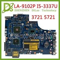 KEFU VAW11 LA-9102P REV: 17 de 1.0 PARA Dell Inspiron 3721 5721 Laptop Motherboard CN-0C2GJ2 0C2GJ2 I5-3337U CPU mainboard originais