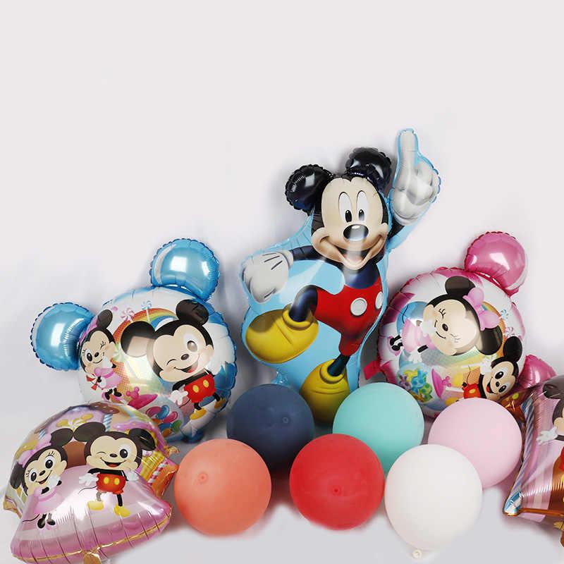 1pc Giant Mickey Minnie Mouse balon balony kreskówki baby shower boy girl dekoracje na imprezę urodzinową prezenty dla dzieci