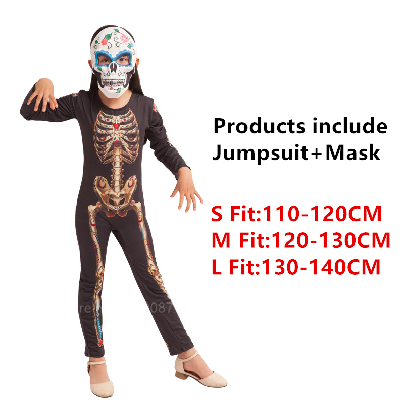 Хэллоуин страшные костюмы для детей демон, дьявол вариант клоун 3D принт Костюм Скелета в китайском стиле Карнавальная одежда для вечеринки - Цвет: Style1