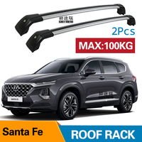 2Pcs Roof bars For HYUNDAI SANTA FE IV (TM )III (DM) [2012 today]  Aluminum Alloy Side Bars Cross Rails Roof Rack Luggage|Roof Racks & Boxes| |  -