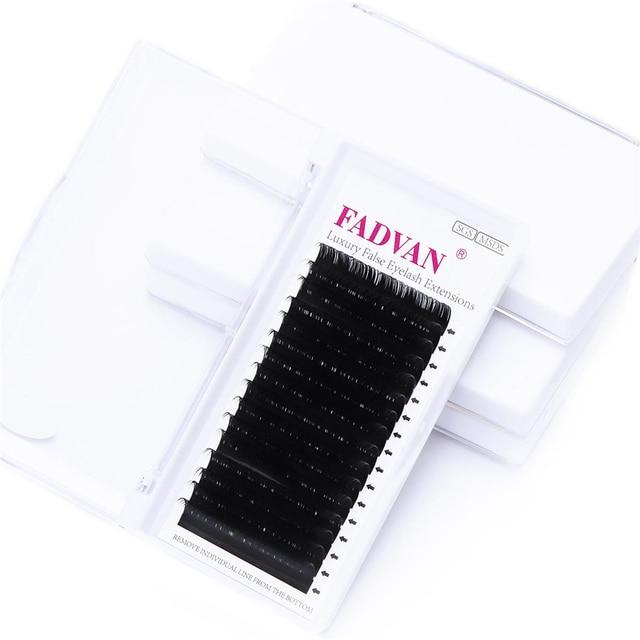 16rows Fadvan Faux Mink Eyelashes Individual Eyelashes Makeup Lashes Extension Lashes Box Case Supplies for Lash Building 2