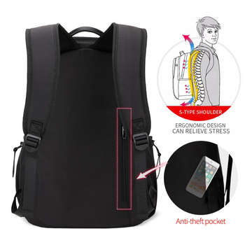 Heroic Knight Men Fashion Backpack 15.6inch Laptop Backpack   6