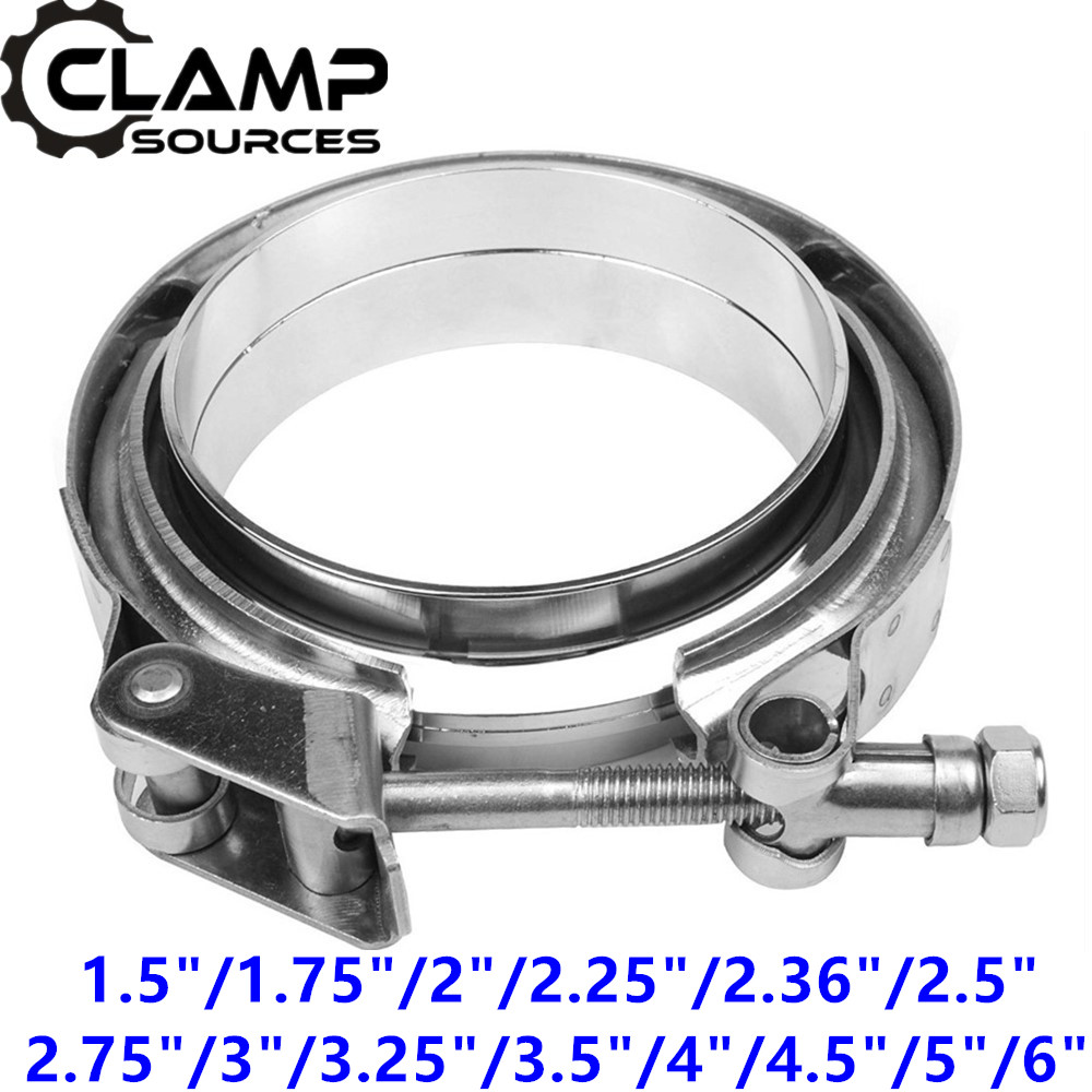 Natural Steel DynoMax Exhaust Clamp 4 in Diameter Each 35752 U-Clamp