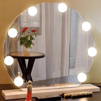 10 sztuk LED Hollywood Vanity Lights możliwość przyciemniania kinkiet lustro do makijażu żarówka niskie promieniowanie cieplne o długiej żywotności tanie i dobre opinie alloet Łóżko pokój WHITE W górę Makeup mirror lamp Z tworzywa sztucznego Other Żarówki led Nowoczesne Brak Shadeless