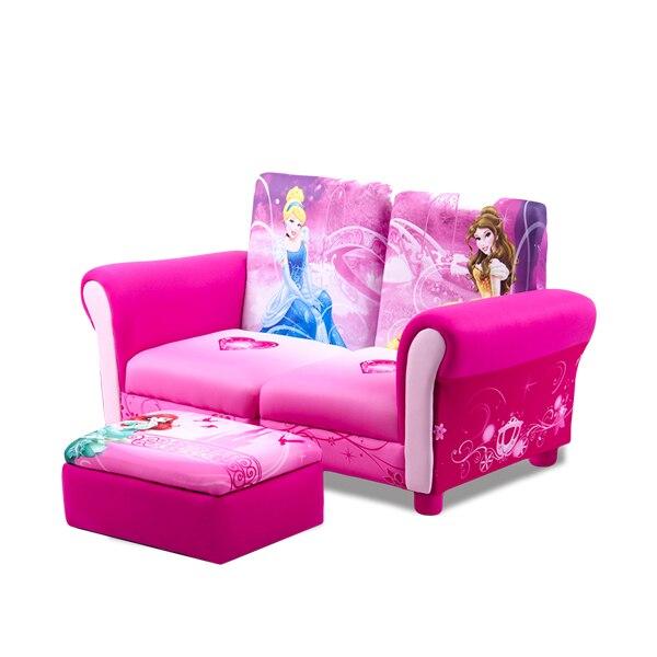 Belle Princess Baby Chair Cartoon Three-piece Suite Group Close Store Function Children Sofa Kids Bedroom Pink Bean Bag Zitzak