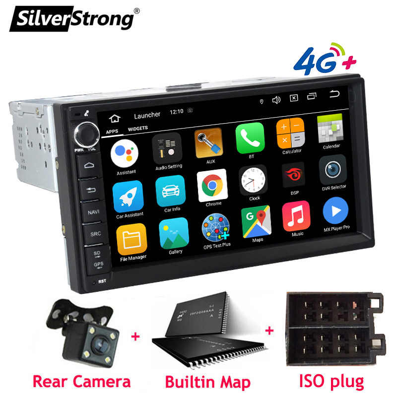 Silverstrong Android10-9.0 Universele 1Din Auto Radio Gps Auto Stereo Lada Granta Autoradio Tape Recorder Voor Toyota/Nissan 707M3