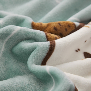 Image 2 - Papa&Mima Thin Throws Blanket Fleece Plaids Multisize Bedsheet Multifunctional Bedspread