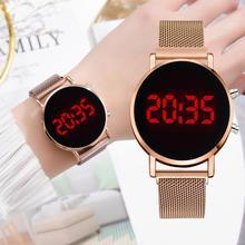 Damskie sportowe zegarki cyfrowe męskie wojskowe zegarki damskie zegarki damskie LED różowe złoto zegarki elektroniczne reloj mujer tanie tanio LVPAI CN (pochodzenie) 3Bar STOP NONE Moda casual Cyfrowy bez opakowania 36mm STAINLESS STEEL Wyświetlacz LED XR4323
