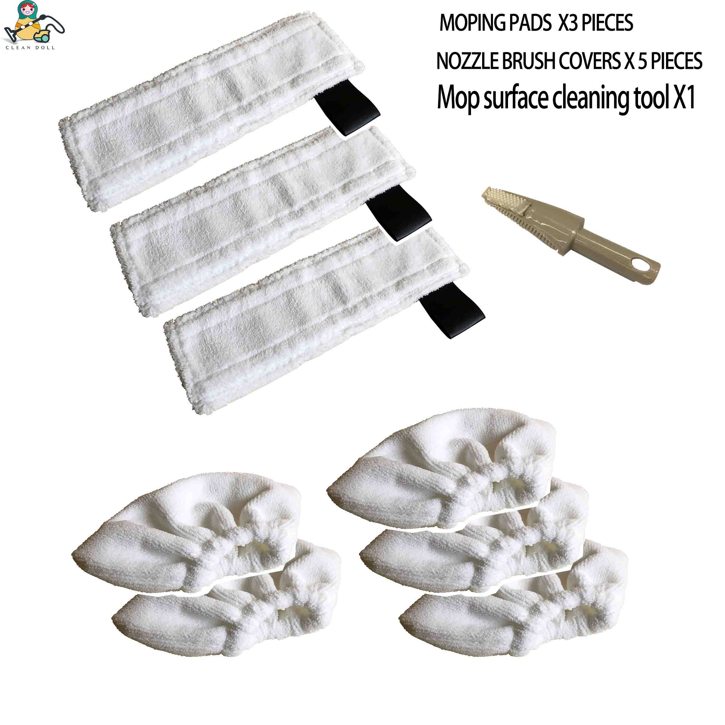 Multi-Set Mopping Cloth Rag Nozzle Cover For Karcher SC1 SC3 EasyFix SC4 SC5 Mop  Steam Cleaner  Mops Cloth Parts 2.863-259.0