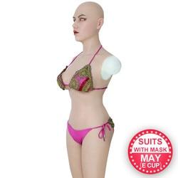 أشكال ثدي من السيليكون للنساء Roanyer بدلة كاملة للجسم على شكل كأس إلكتروني مع أذرع ثدي مزيفة قد تخفي الجسم لشيميل كروسدرسر مصنوع يدويًا