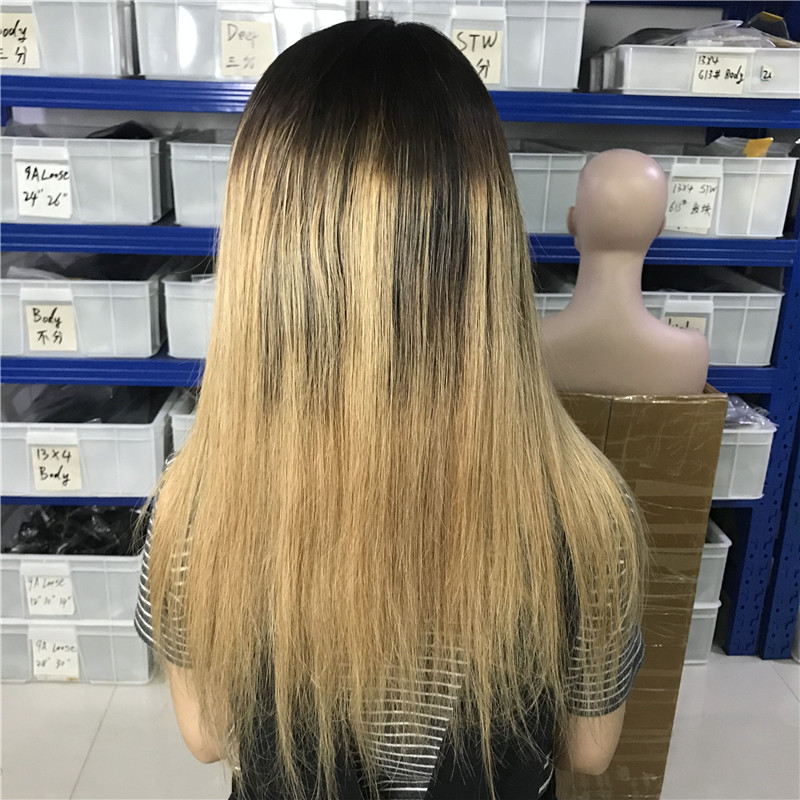 3 1b 4 27 ombre color human hair wig