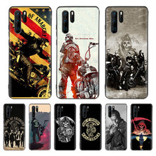 American TV Sons of Anarchy Black Cover Phone Case For Huawei Mate 30 20 10 P30 P20 P10 Pro Lite P Smart Z 2019 Luxury Coque She(China)