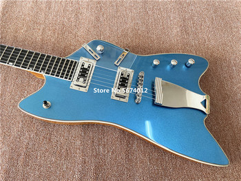 High quality customized metal blue jazz electric guitar, Pelham Blue or Lake Placid Bluecustomized free shipping image