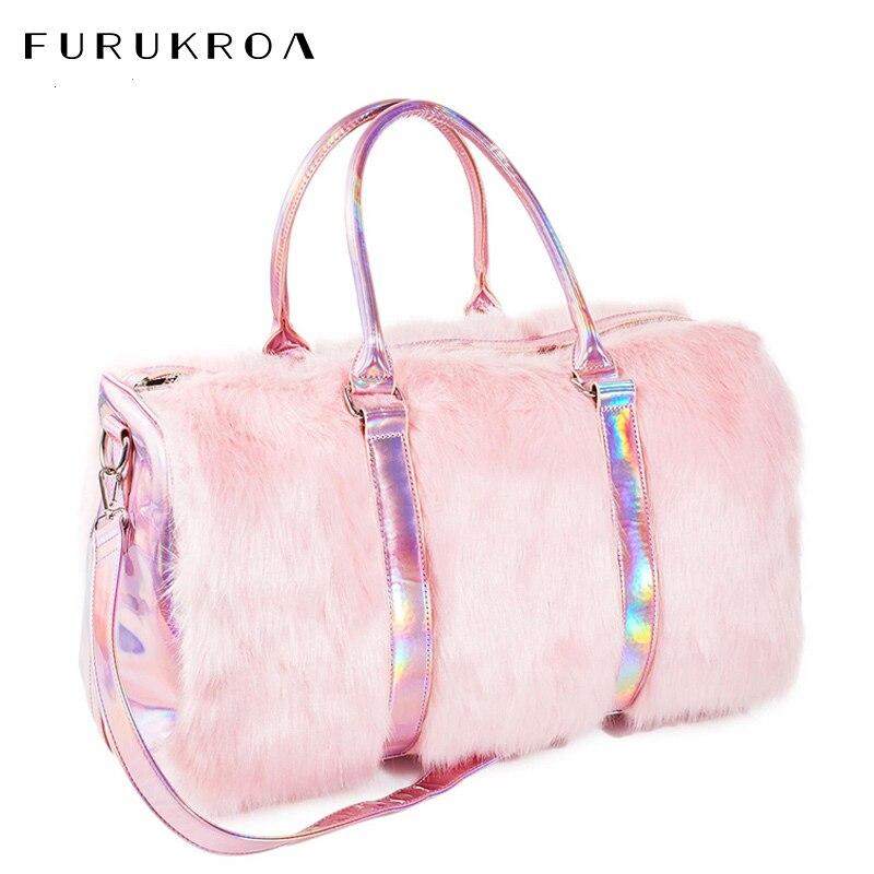 Large Travel Tote Bags For Women Plush Bags Cute Voyage Bag Weekend Travelling Bags Big Female Organizer Handbags Mujer XA695WB