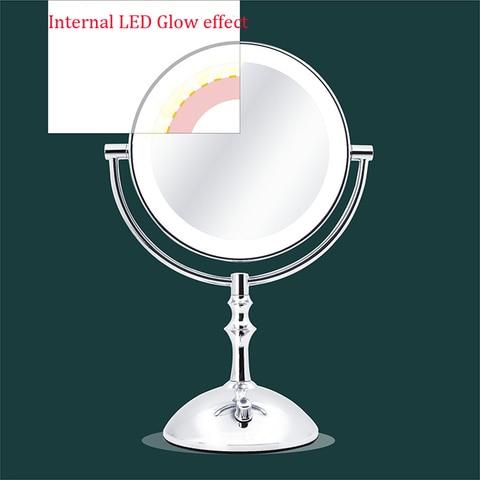 ampliacao espelho cosmetico led lampada ajustar brilho