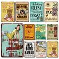 Rum Beach Bar художественный постер металлический знак винтажный Tiki бар украшения жестяные таблички Aloha Добро пожаловать металлическая пластина...