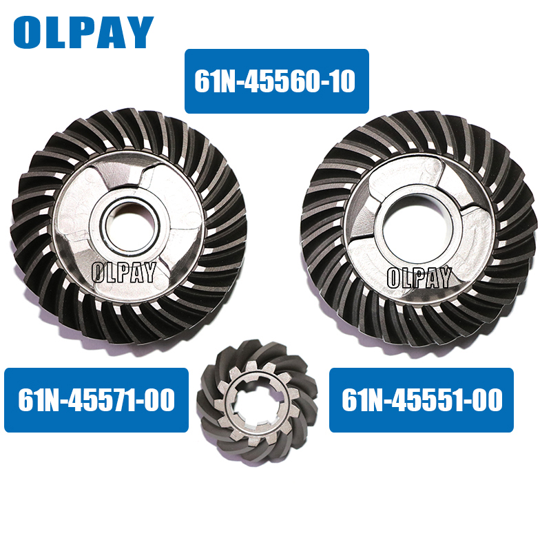 Gear Kit For Yamaha 2 Stroke 30HP Boat Engine,forward Gear 61N-45560,Reverse Gear 61N-45571-00 Pinion Gear 61N-45551-00