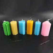 Home decoration 6 types a set diy candle mold square column kaarsen maken silicone candle making wax melts lz78