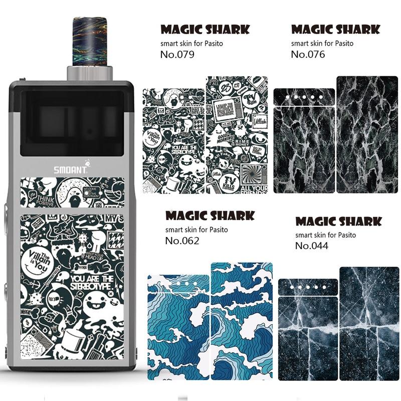 Magic Shark Sticker For Smoant Pasito Kit E Cigarette Skin Stickers Cover