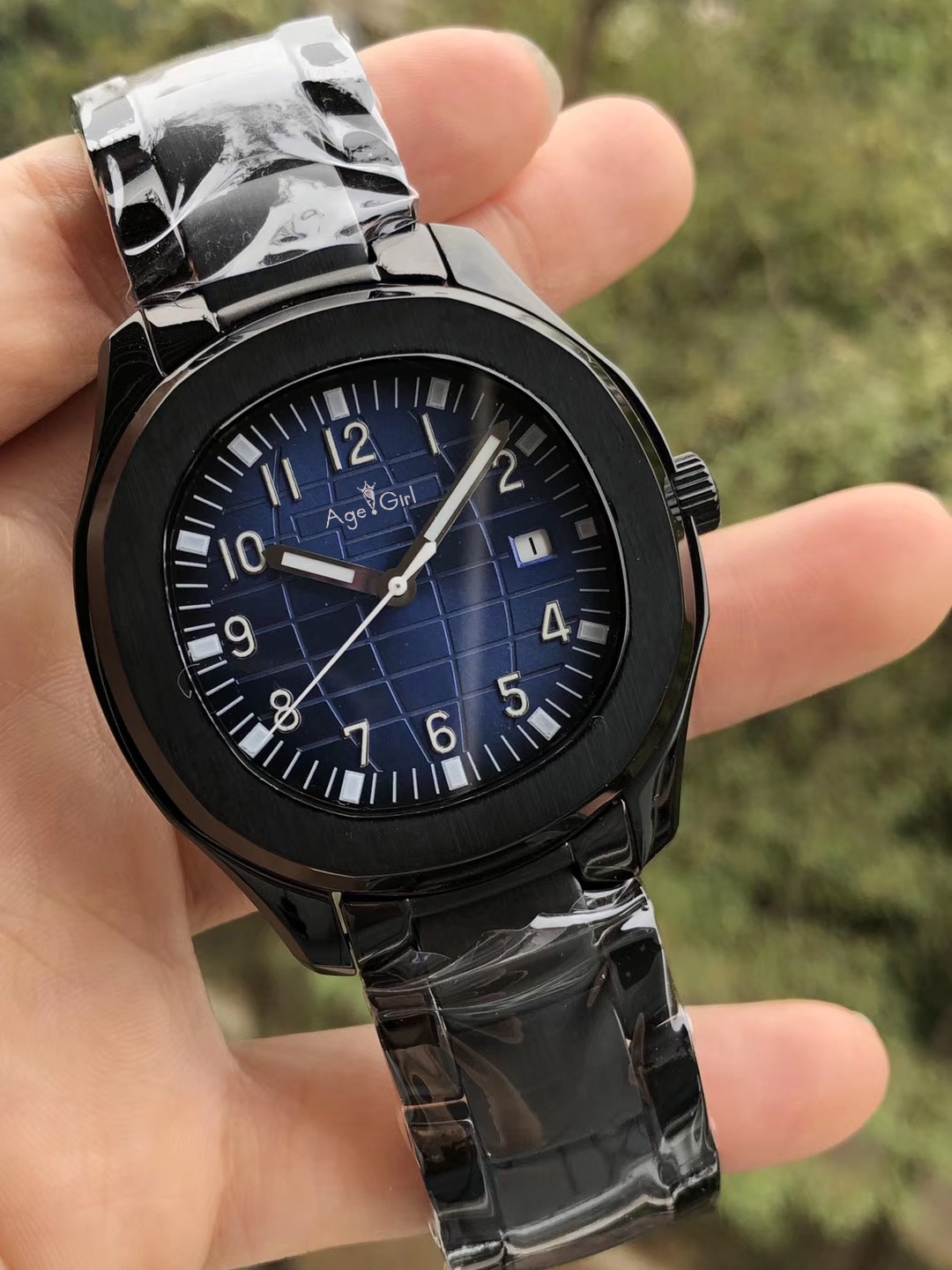 Luxury Brand New Automatic Mechanical Men Watch Sapphire Full Black Blue Iiron Transparent Glass Back Watches Limited Sport AAA+