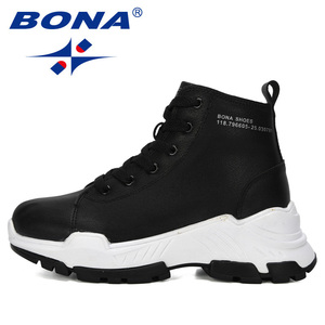 Image 5 - BONA 2019 New Designers Microfiber Snow Boots Women Short Plush Boots Ladies Ankle Boots Warm Winter Footwear Feminimo Trendy