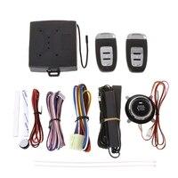 Car Security Alarm Smart System Set With PKE Passive Keyless Entry Remote Lock Automobiles Burglar Alarm