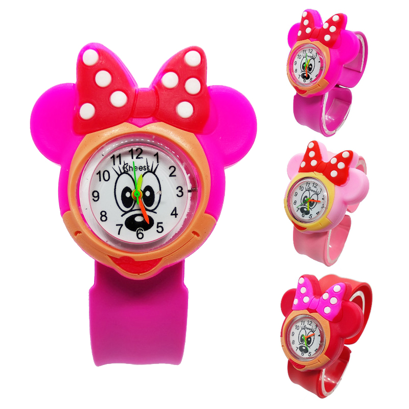 3D Cartoon Minnie Mickey Kids Watches Baby Toys Clock Bracelet Children's Watches Child Watch For Girls Boys Christmas Gifts