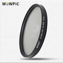 Filtro de polarização wowpic cpl 49 52mm 55 58mm 62 67 72 77mm 82mm lente filtre foto para canon nikon sony penter dslr cam