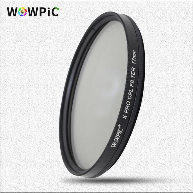 Polarisatie Filter Wowpic Cpl Filter 49 52 Mm 55 58 Mm 62 67 72 77 Mm 82 Mm Lens Filtre foto Voor Canon Nikon Sony Penter Dslr Cam
