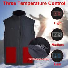 Winter Vest Men Outdoor USB Cotton Heated Vest Electric Thermal Waistcoat Clothing Heating Vest for Sports Hiking Climbing winter usb heater hunting vest heated jacket men thermal sleeveless heating clothing for outdoor hiking climbing fishing