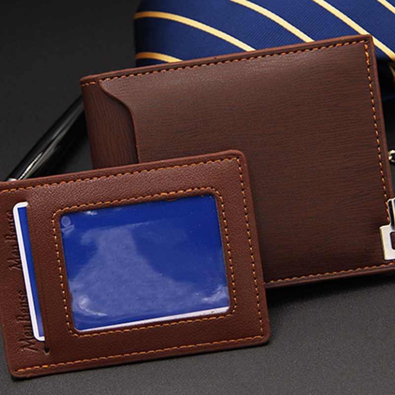 Vintage Men Leather Brand Luxury Wallet Short Slim Male Purses Money Clip Credit Card Dollar Price Portomonee Carteria