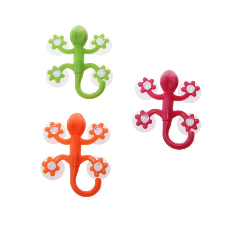 2020 neue Gecko Leistungsstarke Kunststoff Vier Saugnäpfe Haken Wand Aufhänger