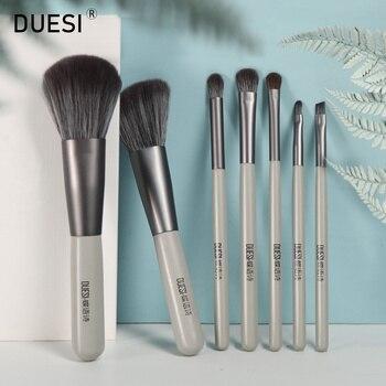 DUESI 7Pcs/Set Makeup Brushes Set 2020 Face Beauty Eyeshadow Eyebrow Blush Powder Foundation Cosmetics Make Up Brush Tools Kit недорого
