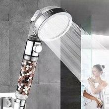 Dusche Kopf Set Negative Ionen Filter Bad Spray Wassersparbrause Hochdruck SPA Düse Mit Schalter 1,5 m Schlauch und Basis