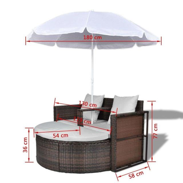 Outdoor Patio Canopy Cushioned Daybed  4