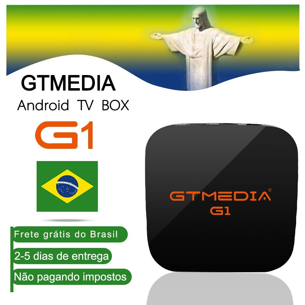 Android TV Box 7.1 GTMEDIA G1 S905W 1G 8G Smart TV BOX H.265 Quad Core Built-in Wifi IPTV Subscription Arabic Europe BrasilSpain