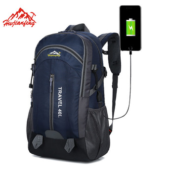 цена Outdoor Bags Travel Climbing Backpacks Travel Bags Men Waterproof Hiking Backpacks Camping Backpack Sport Bag Women Backpack 40L онлайн в 2017 году