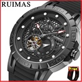 RUIMAS модные японские автоматические Movt часы для мужчин силиконовый ремешок деловые механические часы мужские наручные часы Erkek Kol Saati