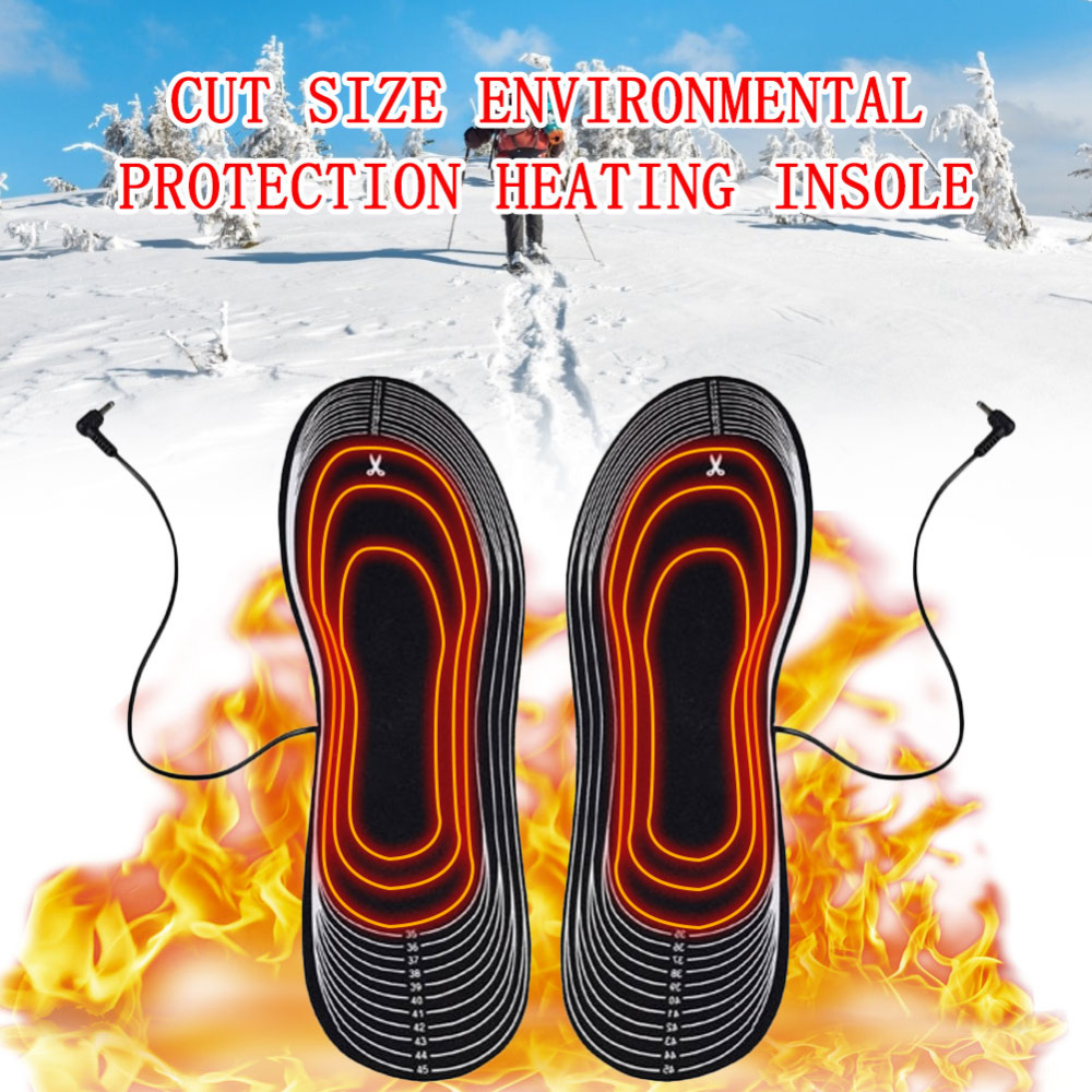 usb palmilhas pés de inverno palmilha quente
