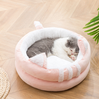 Cat Nest House Villa Closed Four Seasons Universal Winter Warm Cat Nest Removable and Washable Supplies image