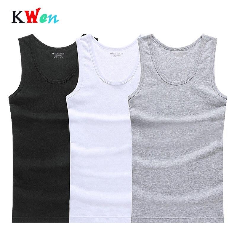 Tank Top Men 3-PCS Cotton Sleeveless Undershirt Gym Fitness Pure Shirts Bodybuilding Workout Vest Factory Outlet Mens Shirt