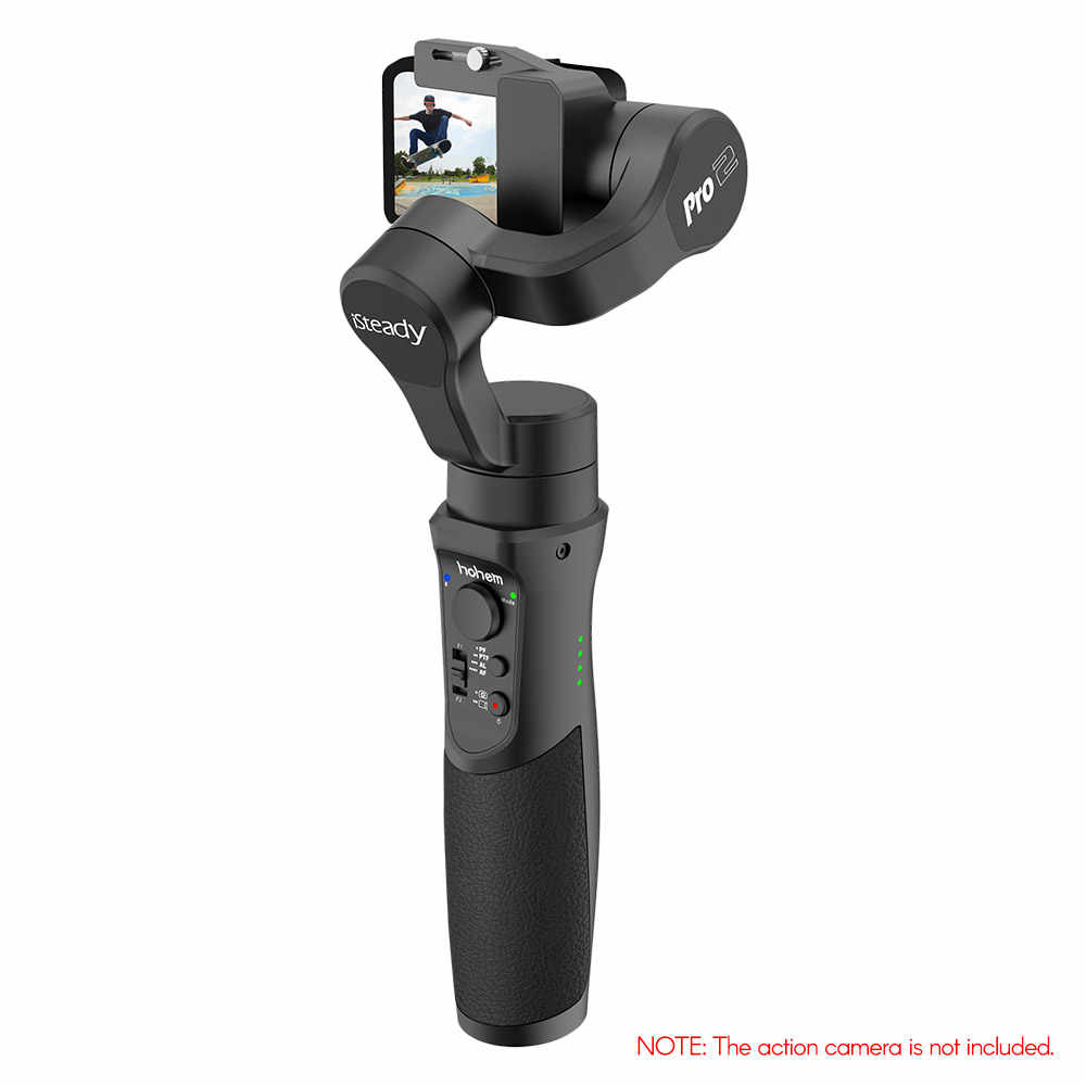 Hohem istey Pro 2 mejorado 3 ejes de mano de la Cámara de Acción cardán estabilizador APP Control para GoPro Hero 7/ 6/5/4/3 Cámaras Deportivas