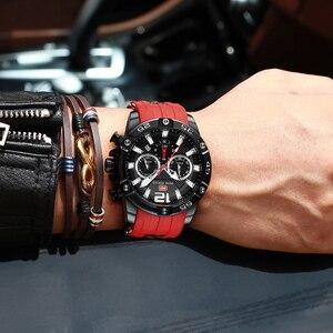 Image 4 - Mini foco moda esporte relógio masculino à prova dwaterproof água dos homens relógios marca superior de luxo quartzo relogio masculino hombre pulseira silicone