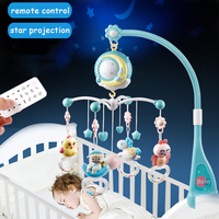 Baby Rattles Crib Mobiles Toy Bed Bell Stroller Rattle Carousel Baby Teether Musical Star Projection For Newborn Toddler Toys